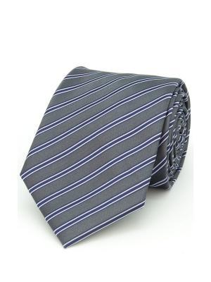 Галстук Angelo Bonetti. Цвет: серый, темно-синий
