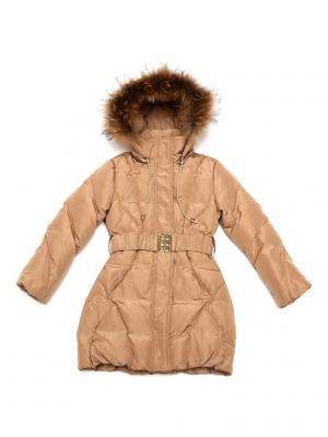 Пальто CIAO KIDS collection. Цвет: золотистый