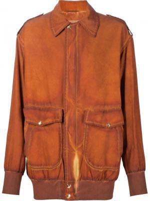 Куртка-бомбер Lily Vivienne Westwood Gold Label. Цвет: жёлтый и оранжевый