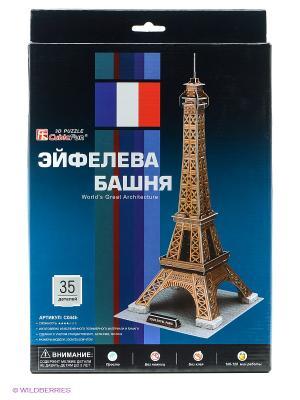 Пазл Эйфелева Башня CubicFun. Цвет: коричневый