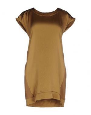 Короткое платье FINE COLLECTION. Цвет: верблюжий
