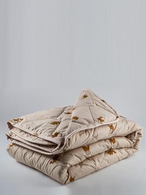 Одеяло Верблюжья шерсть ТекСтиль. Цвет: бежевый