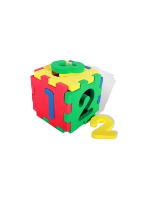 Развивающая игрушка кубик-цифры БОМИК. Цвет: синий, зеленый, красный