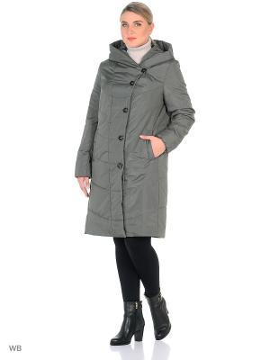 Утепленное пальто MONTSERRAT. Цвет: серо-зеленый