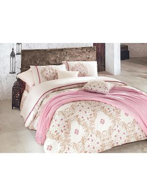 Комплект постельного белья VANILLA ранфорс, 145ТС, евро ISSIMO Home. Цвет: кремовый