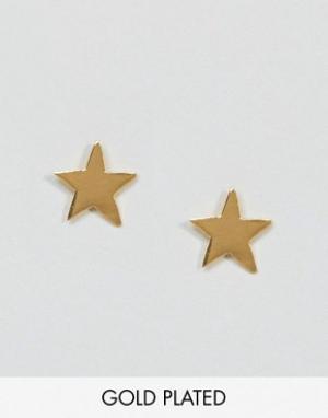 Ottoman Hands Серьги-гвоздики в форме звезды Signs & Symbols. Цвет: золотой