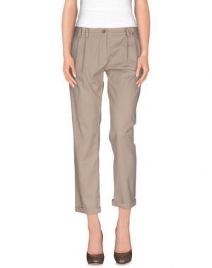 Повседневные брюки PLEASE. Цвет: бежевый