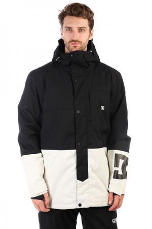 Куртка утепленная DC Defy Jkt Black Shoes. Цвет: черный,белый