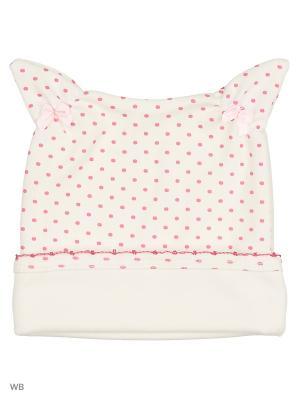 Шапочка Три ползунка. Цвет: бледно-розовый, белый, персиковый