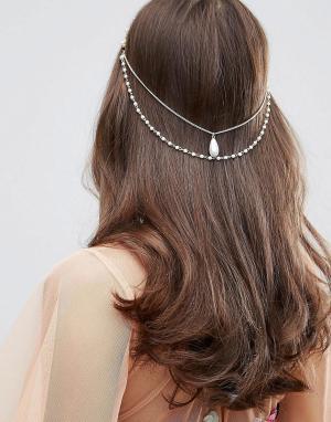 ASOS Украшение для волос с искусственным жемчугом. Цвет: кремовый