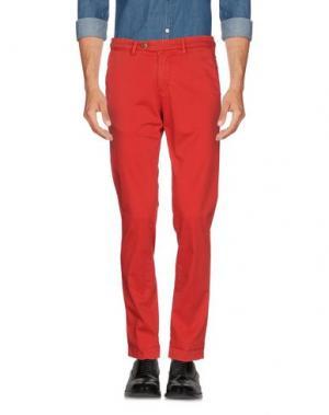 Повседневные брюки B SETTECENTO. Цвет: красный
