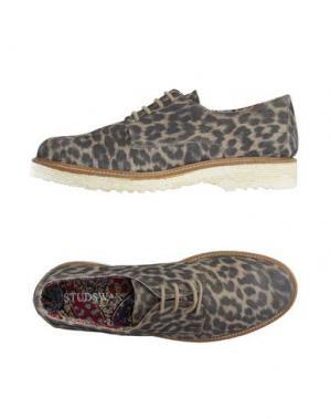 Обувь на шнурках STUDS WAR. Цвет: хаки