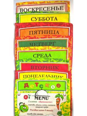 Набор кухонных полотенец Letto Неделька, 8шт, 35*62см, 100% хлопок. Цвет: красный, желтый, синий, зеленый