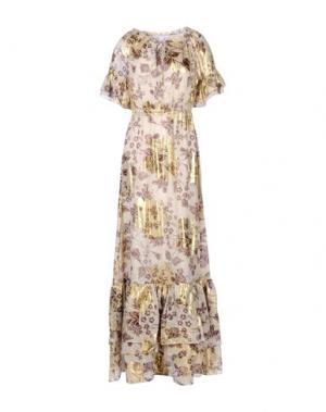 Длинное платье DIANE VON FURSTENBERG. Цвет: бежевый