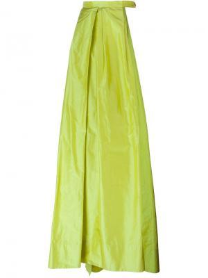 Длинная юбка с широким разрезом Caitlin Price. Цвет: зелёный