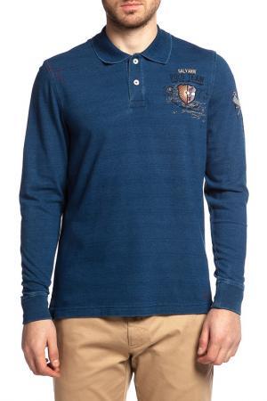 Рубашка-поло Galvanni. Цвет: синий