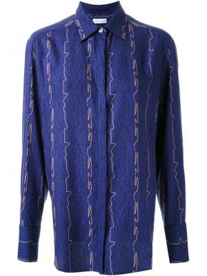 Рубашка в мужском стиле с принтом Scanlan Theodore. Цвет: синий