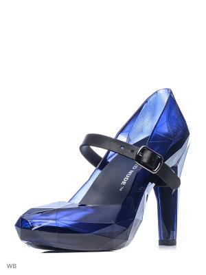 Туфли UNITED NUDE. Цвет: синий