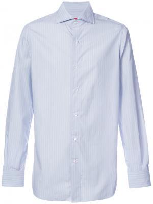 Рубашка в полоску с длинными рукавами Isaia. Цвет: синий