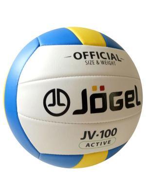 Мяч волейбольный Jogel JV-100. Цвет: голубой, желтый