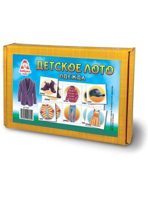 Детское лото Одежда Азбука Тойс. Цвет: голубой, светло-оранжевый
