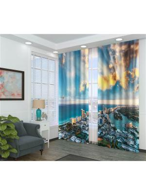 Фотошторы Панорамный вид Сирень. Цвет: синий