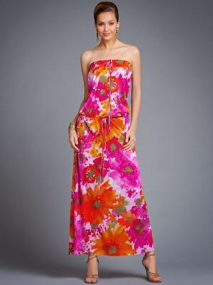 Платье Арт-Деко. Цвет: розовый