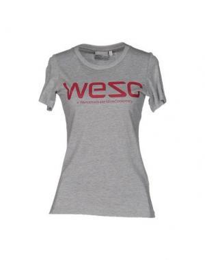 Футболка WESC. Цвет: серый