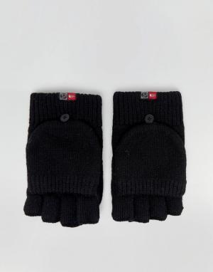 The North Face Черные варежки-перчатки. Цвет: черный