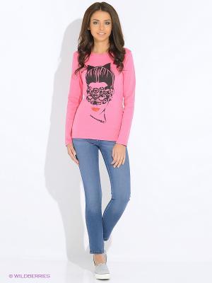 Лонгслив RHS. Цвет: розовый