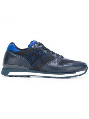 Кроссовки для бега Hogan Rebel. Цвет: синий