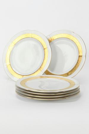 Набор тарелок 27 см 6 шт. Bohemia. Цвет: белый