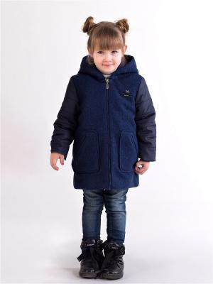 Двустороннее пальто babyAngel. Цвет: синий