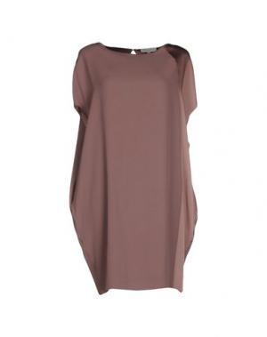 Короткое платье ANTONELLI. Цвет: голубиный серый