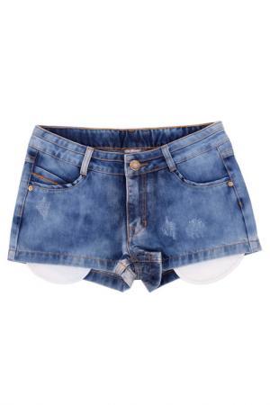 Шорты Gulliver. Цвет: голубая джинса