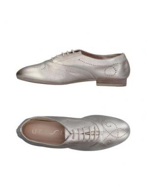 Обувь на шнурках UNISA. Цвет: платиновый