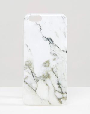 SIGNATURE Чехол для Iphone 6 с мраморным эффектом. Цвет: белый