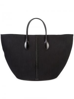 Объемная сумка-тоут Alaïa. Цвет: чёрный