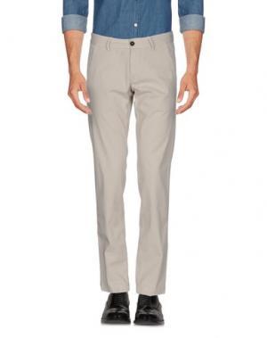Повседневные брюки ROŸ ROGER'S. Цвет: светло-серый