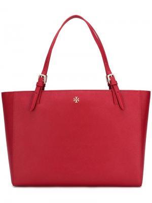 Большая сумка-тоут Tory Burch. Цвет: красный