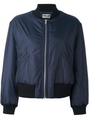 Классическая куртка бомбер Hache. Цвет: синий
