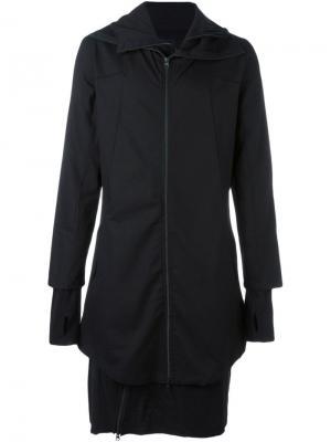 Многослойное пальто Thom Krom. Цвет: чёрный