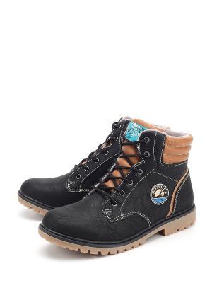 Ботинки Indigo. Цвет: черный