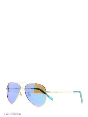 Солнцезащитные очки Polaroid. Цвет: золотистый, голубой