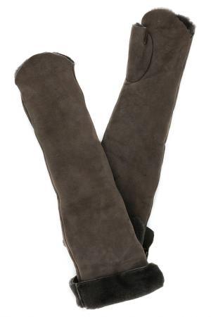 Перчатки Nina Ricci. Цвет: коричневый