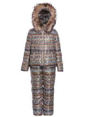 Комплект пуховик детский + брюки детские Consowear. Цвет: коричневый