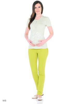 Брюки для беременных EUROMAMA. Цвет: салатовый