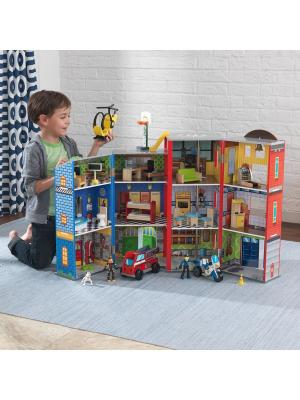 Игровой набор для мальчиков Здание спасательной службы, 28 эл. KidKraft. Цвет: синий,красный