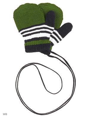 Варежки Mini. Цвет: зеленый, черный