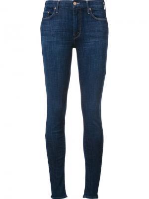 Укороченные джинсы скинни Looker Mother. Цвет: синий